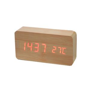 [나무자전거]인테리어 시계 [dp] 우드블럭 LED 클락
