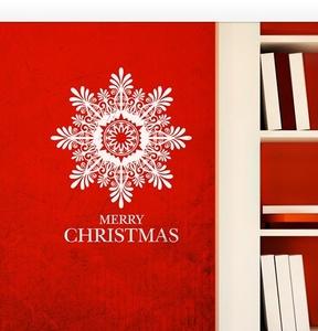 [나무자전거]그래픽스티커[DB]크리스마스 큰눈꽃