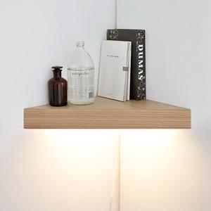 [나무자전거] 인테리어조명 [BB] [LED]코너 선반 벽조명-무늬목