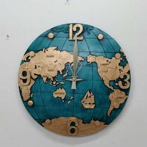 [나무자전거]인테리어시계 [frs] 대형지구본벽시계 블루
