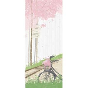 [나무자전거]현관문시트지(HWS-28073) 자전거가 있는 풍경1
